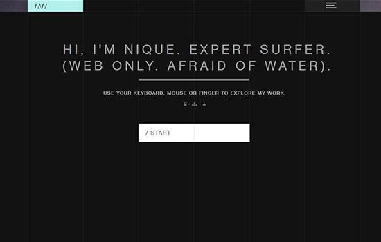70个全球最华丽的互动型单页网站欣赏