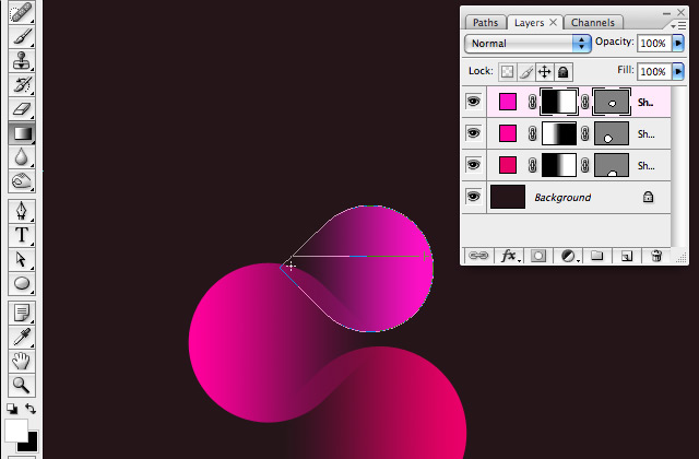 Simple organic shapes in Photoshop - Duplicate and change color