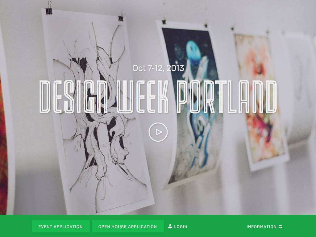 Design Week Portland Responsive Website on a Tablet