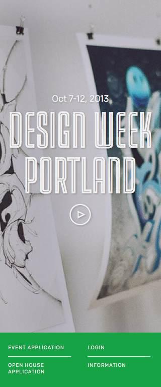 Design Week Portland Responsive Website on Mobile
