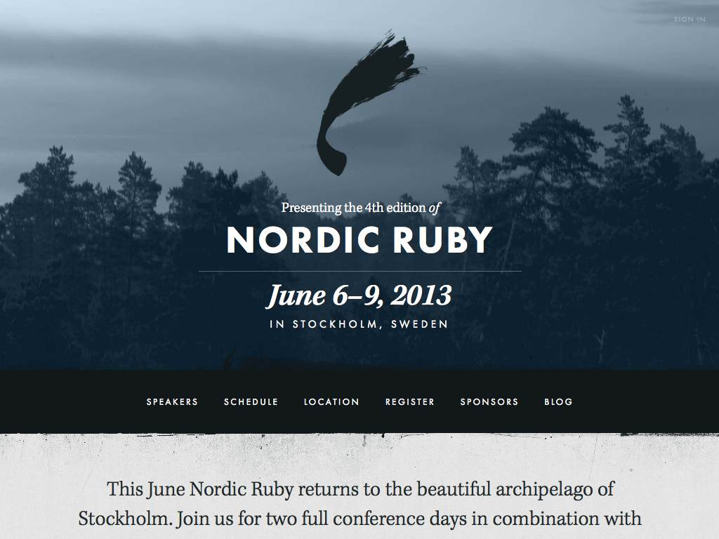 Nordic Ruby Responsive Website on a Tablet