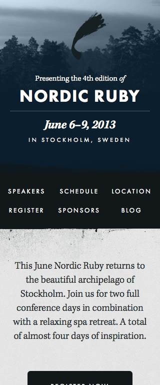 Nordic Ruby Responsive Website on Mobile