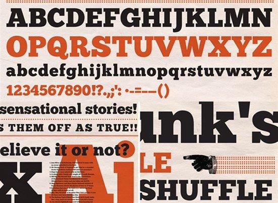 24套适用于扁平化设计的免费英文字体