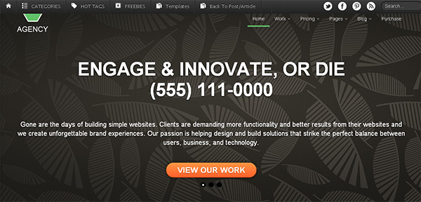 Agency in 23 New and Free HTML5 Templates