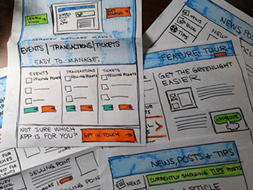 30张设计师的手绘网页草图(原型图/框架图)
