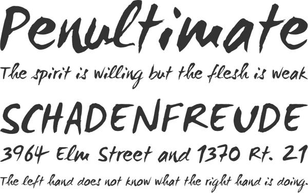 设计师专用——25款手写英文字体下载