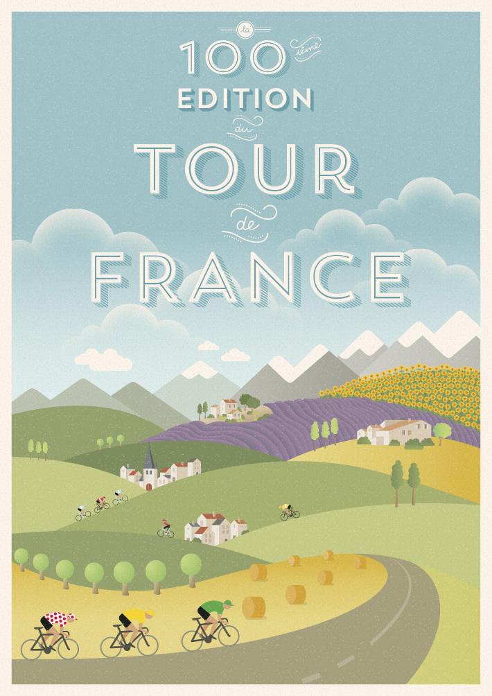怎么做海报?环法自行车赛100周年海报设计案例解析
