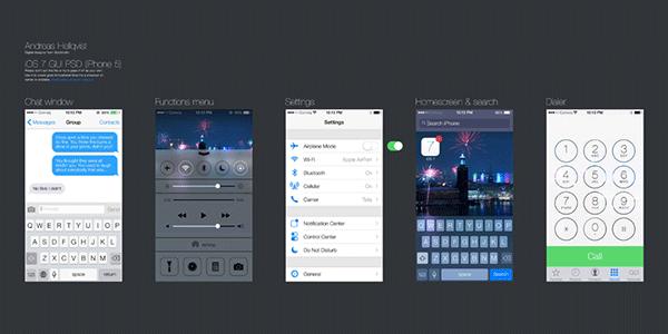 夏日清凉福利!iOS7免费设计资源汇总