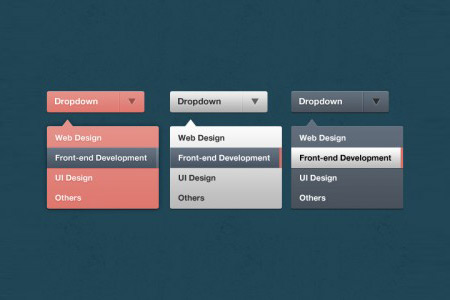 Beautiful Free Dropdown PSD Designs