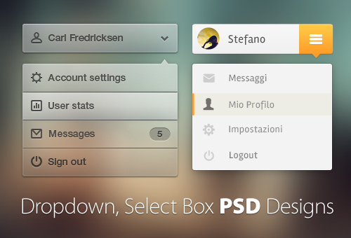 65+ Free Dropdown, Select Box PSD Designs