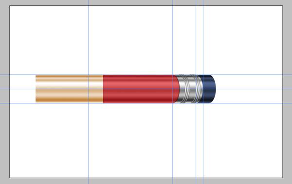 Photoshop教程:绘制一个超级闪亮的铅笔图标
