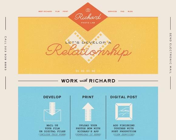 一组启迪设计灵感的复古风格网页作品