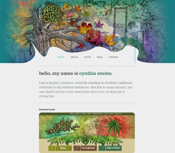 40个超美的水彩效果网页设计