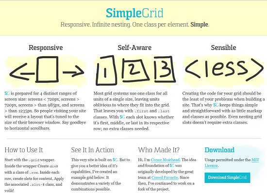 Simple Grid-Responsive Web Design Tool