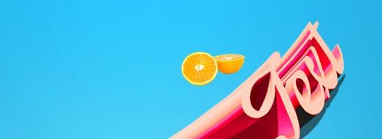 PS教程:教你轻松打造3d水果特效文字
