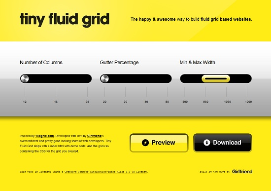 Tiny Grid-Responsive Web Design Tool