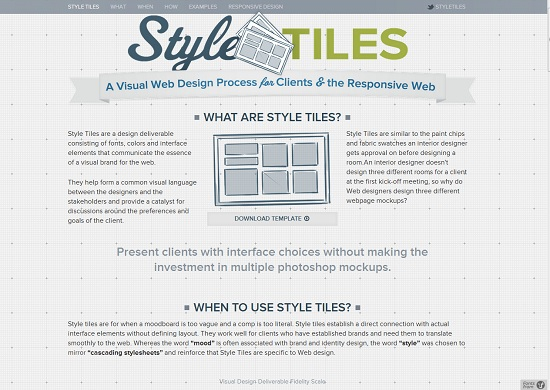 Style Tiles-Responsive Web Design Tool
