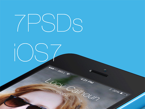 FREE – 7 PSDs from iOS7 by XEE Tech in 50 Fresh Freebies From Dribbble