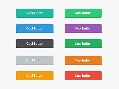 Flat Buttons PSD by Surjith SM in 50 Fresh Freebies From Dribbble