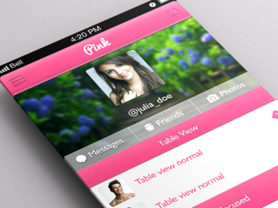 Free Pink UI Kit by Arjun Kanithottathil in 35 Fresh, Free and Flat UI Kits