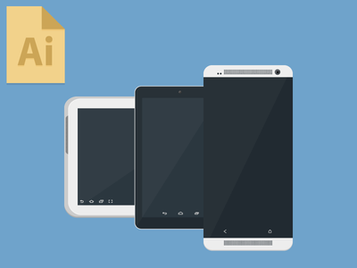 Freebie: Android Devices by Ian Mintz in 50 Fresh Freebies From Dribbble