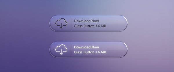 Glass Buttons by PSDchat in 50 Fresh Freebies From Dribbble