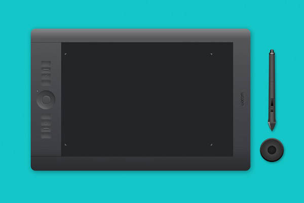 Illustration Wacom Intuos5 Touch by Barin Cristian in 50 Fresh Freebies From Dribbble