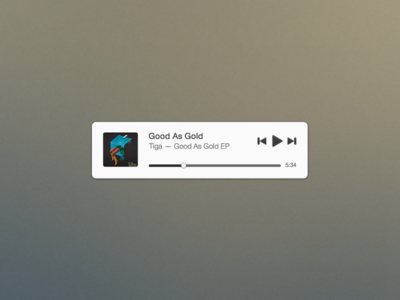 Mini Music Player (Free PSD) by Joshua Andrew Davies in 50 Fresh Freebies From Dribbble