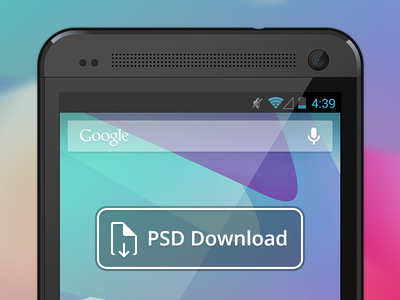 Vector HTC One PSD Download by Jeff Broderick in 50 Fresh Freebies From Dribbble
