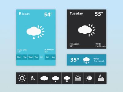 Weather Widget UI by Arslan Ali Khasheli in 50 Fresh Freebies From Dribbble