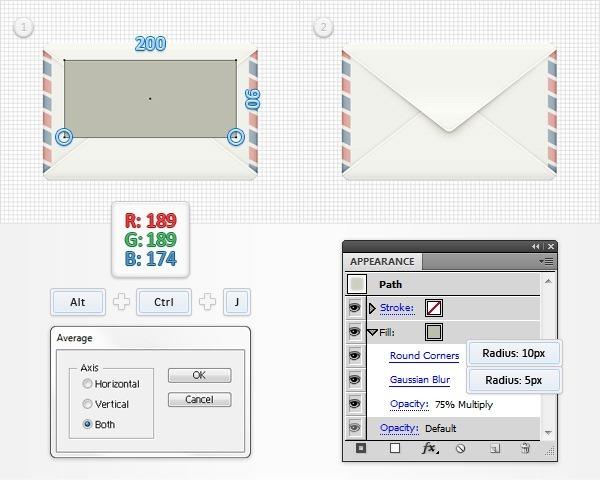 手把手教你用illustrator创建精细的信封