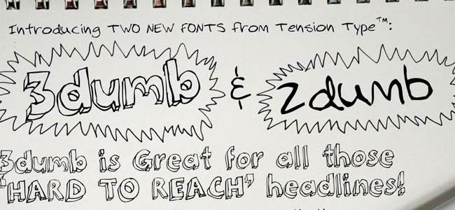 推荐!一组免费的手写艺术字体打包下载