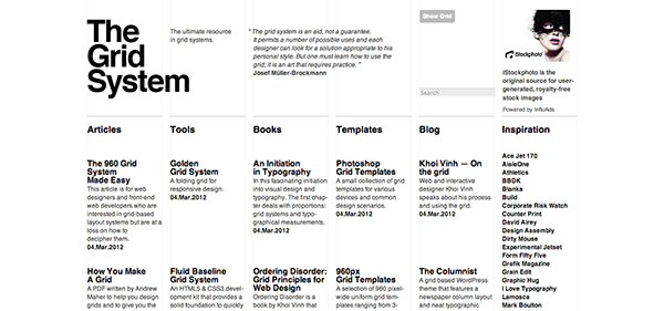 The Grid System website
