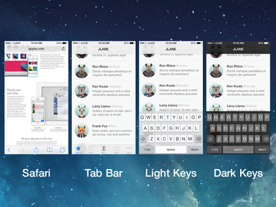 iOS 7 Non-Destructive Blur Templates by Jayson Lane in 50 Fresh Freebies From Dribbble