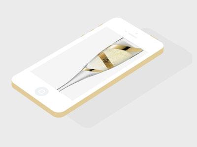 金色版iPhone 5S和iPhone 5C版本的PSD模型素材
