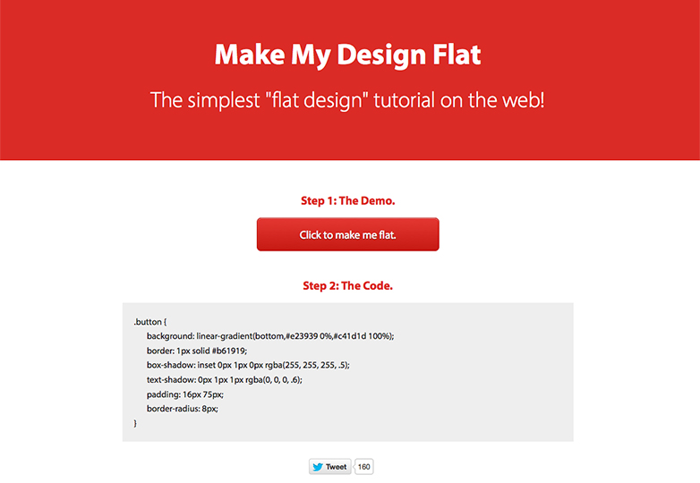 make-flat