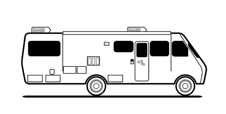 Breaking Bad RV in Illustrator