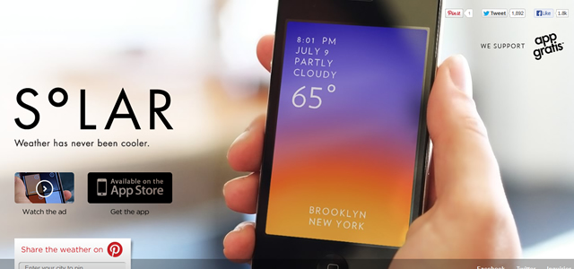 This is Solar colors mobile app weather