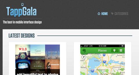 8个获取手机应用程序设计灵感的网站