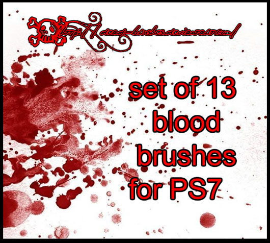 13 blood brushes for ps7