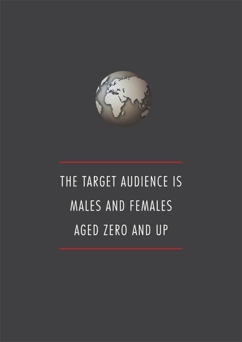 我们的用户群是男人和女人,年龄在0岁以上