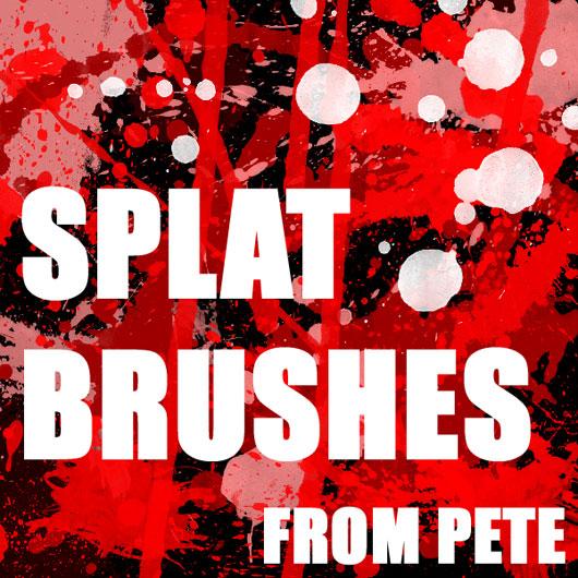 50+ Blood or Splatter Brushes