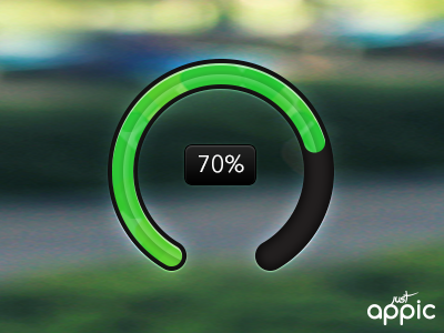 70% by Michiel Agterberg in 40 Progress Bar Designs for Inspiration