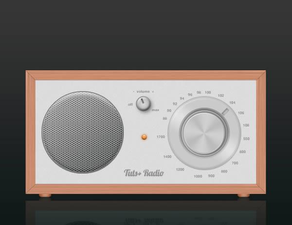 创建逼真写实的高质感收音机