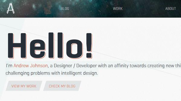 网页设计新招:采用大胆奔放的字体