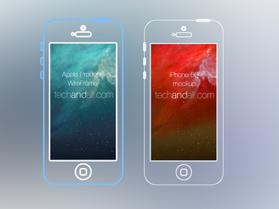 Apple Product Line Wire Frame PSD by Rubayath in 27 Fresh UI Kits for October 2013