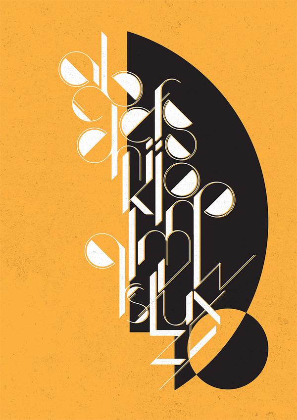 Art Zeko by Simi Zeko in Showcase of Art Deco Typography