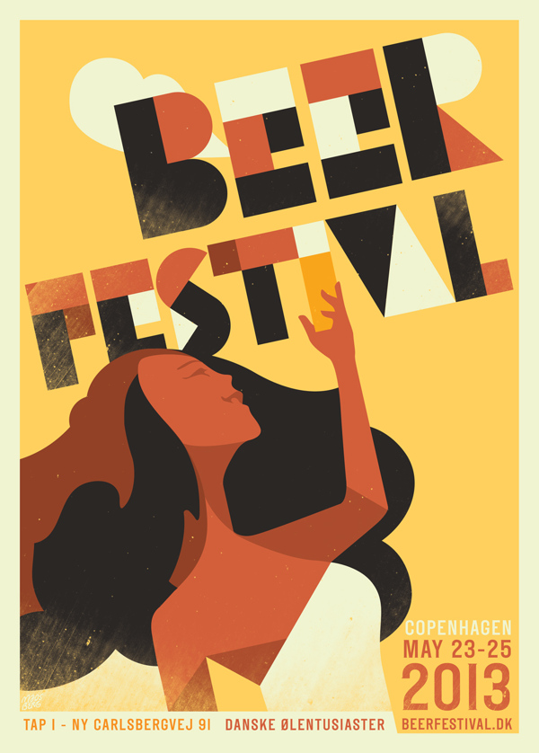 Beer festival 2013 by Mads Berg in Showcase of Art Deco Typography