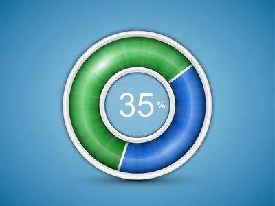 Circular progress bar by Alexandr Ivanov in 40 Progress Bar Designs for Inspiration