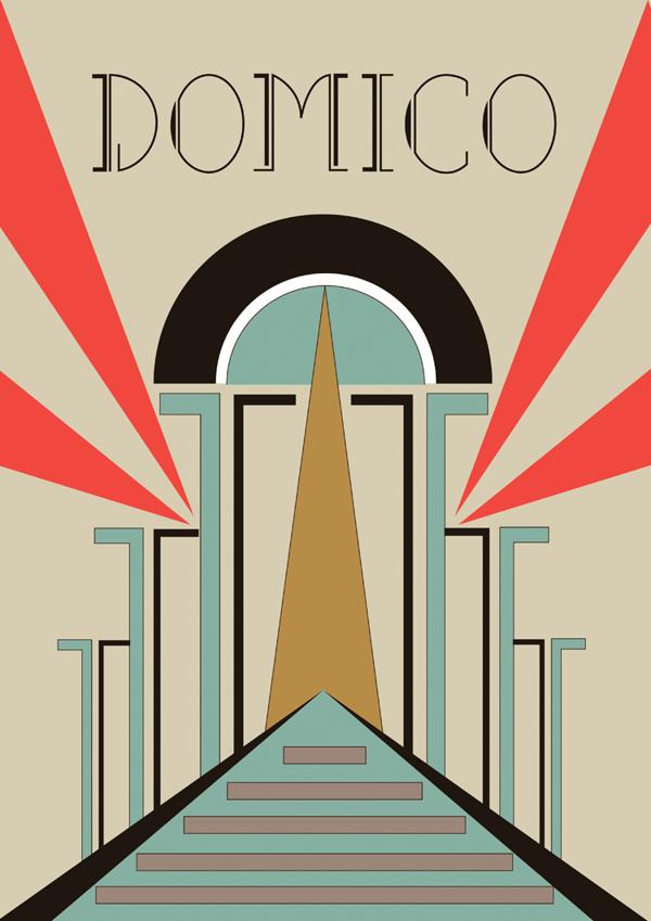 Domico by Tika Wangsa in Showcase of Art Deco Typography